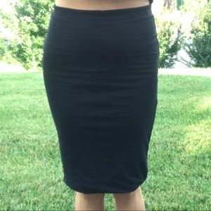 Soft Midi Pencil Skirt